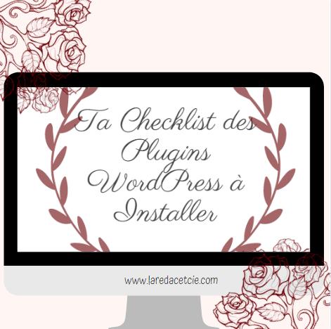 Checklist des Plugins WordPress à Installer